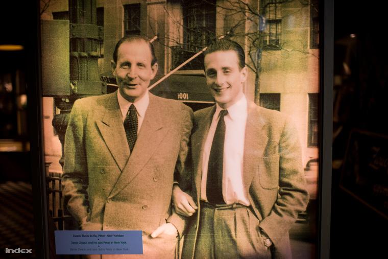 Apa és fia: Zwack János és Péter a XX. század közepén.