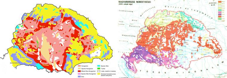 Magyarország népei a XI. és a XVIII. században.