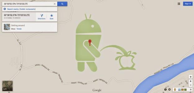 apple-vs-android-google-maps-easter-egg