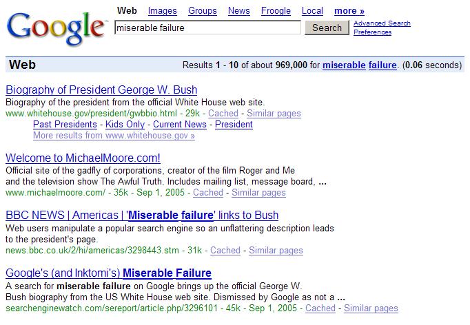 Google Bomb Miserable Failure.png