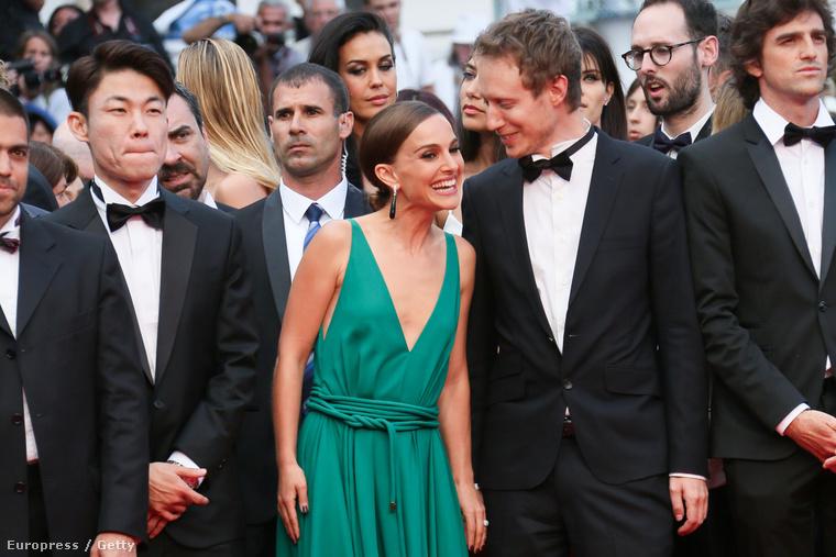 Naatlie Portman és Nemes Jeles László Cannes-ban