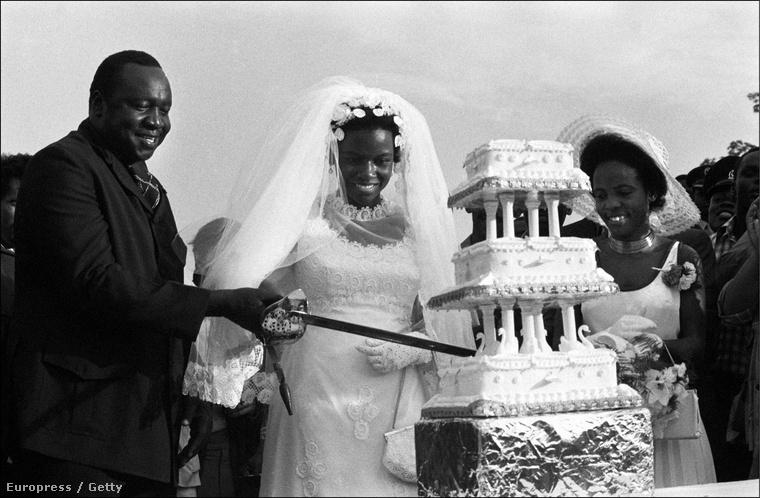 Ez a kép Idi Amin Dada ugandai diktátor 1975-ös esküvőjén készült