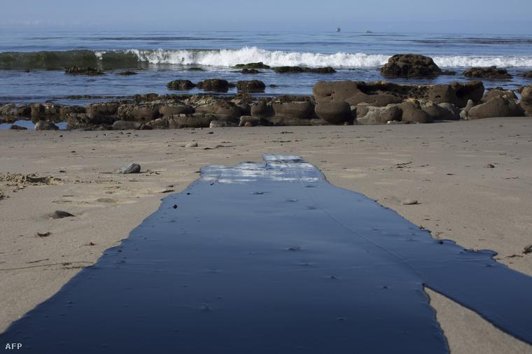 Az olaj szó szerint befolyt az óceánba.