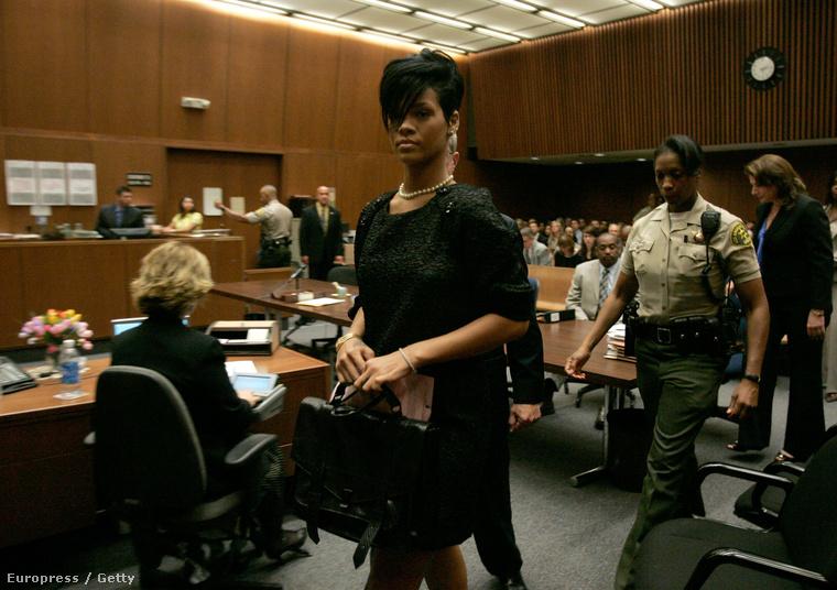 A tárgyaláson akkor Rihanna is ott volt