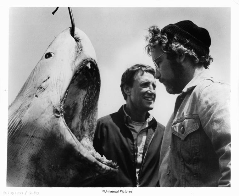 Roy Scheider és Richard Dreyfuss, meg a cápa