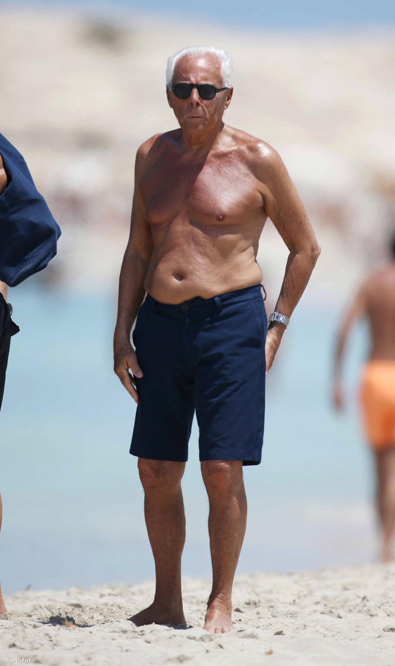 Giorgio Armani a spanyol Formentera szigeten süttette magát