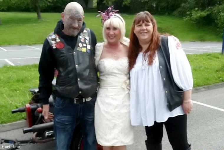 Egy csodálatos esküvő fotó: Roger Buckless, a motor tulajdonosa – húga, Jenny Buckless, a menyasszony – Roger felesége, Hayley
