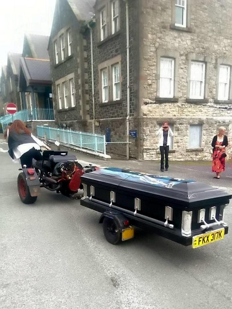 Ez a kép egy walesi utcán készült a hétvégén