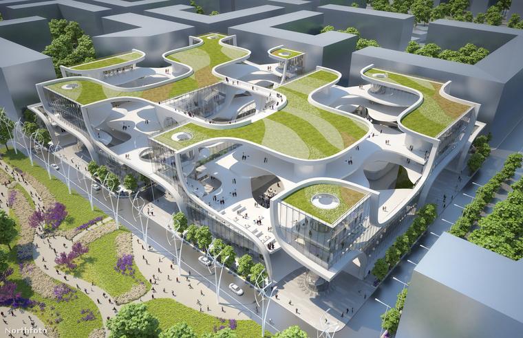 Egy belga építész, Vincent Callebaut elképzelte, milyen plázákat lehetne építeni olyan helyekre, ahol a városok szinte teljesen kiszorították már a természetet.