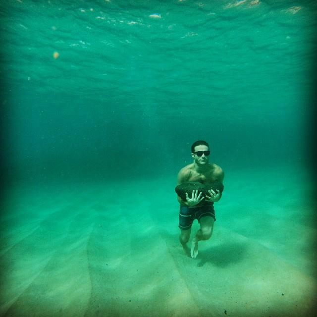 Szeret a víz alatt is lenni.