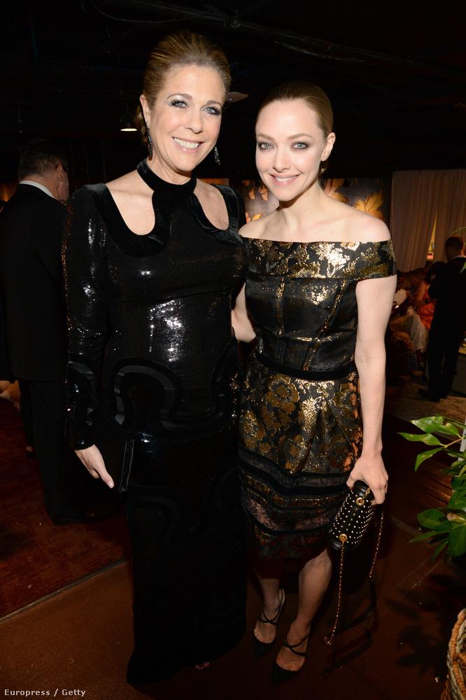 Az éppen nálunk forgató Tom Hanks feleségével, Rita Wilsonnal mulatott.
