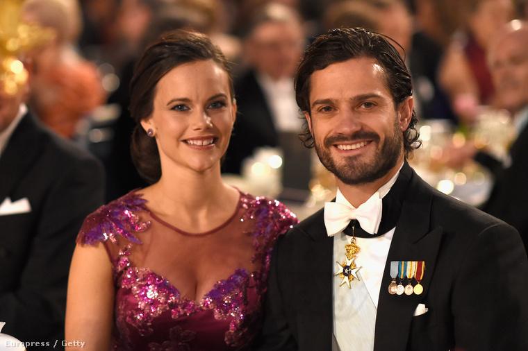 2014-ben ilyen csinosan öltöztek fel a Nobel-díj átadójának bankettjére Stockholmban.