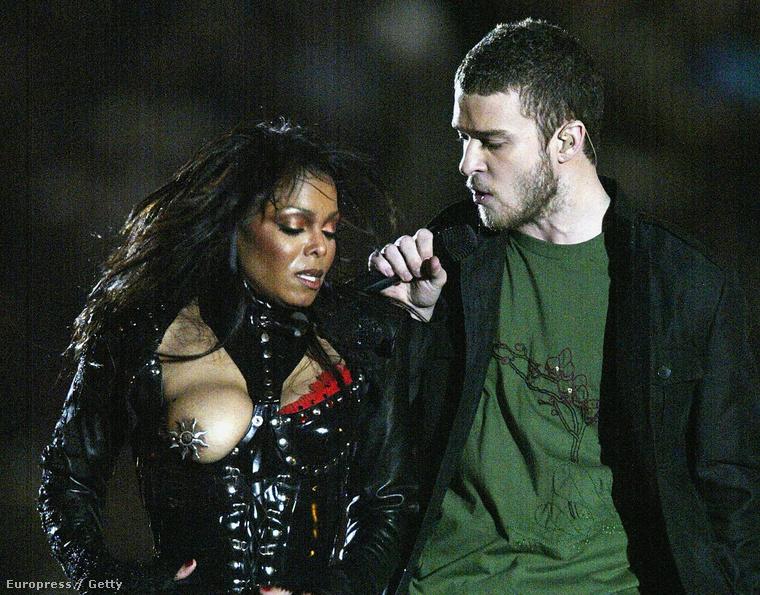 Egy 2004-es klasszikus: Janet Jackson a Super Bowl döntőjén mutatta meg mellét, miután Justin Timberlake letépett róla mindent