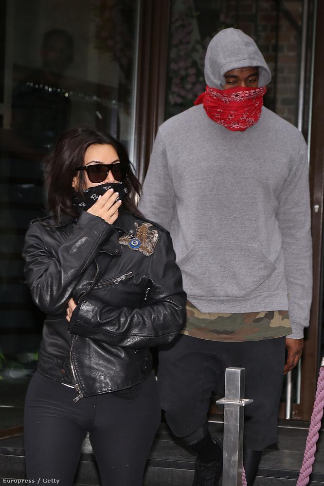 A celebnő és férje, Kanye West legalább annyira bénák a rejtőzködésben, mint Justin Bieber