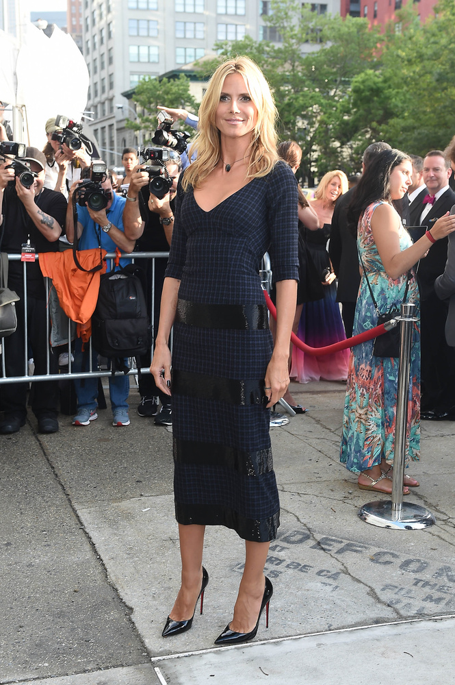 Heidi Klum egészen visszafogott volt