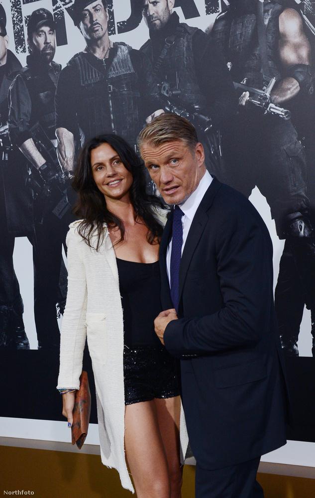 Dolph Lundgren akciófilm-sztár és új barátnője, Jenny Sandersson