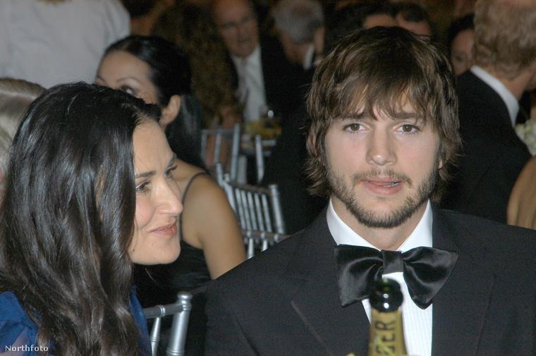 Demi Moore és Ashton Kutcher, amikor még együtt voltak
