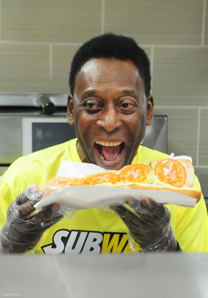 A focista, Pele egy Subway éttermet látogatott meg Londonban márciusban, biztos evett is a kész szendvicsből