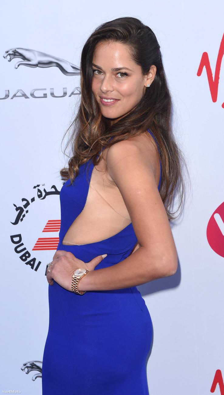 Ana Ivanovic mellrésze igen erős, de ez inkább csak a ruhára igaz.