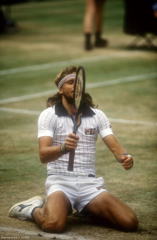 És ha már McEnroe, akkor legyen itt Björn Borg is szintén 1980-ból, szintén elég rövid nadrágban.