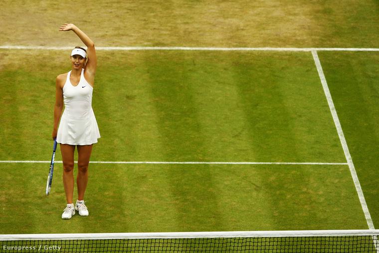 Ez a kép már a tavalyi bajnokságon készült, amit a képen látható Marija Sarapova nyert meg.