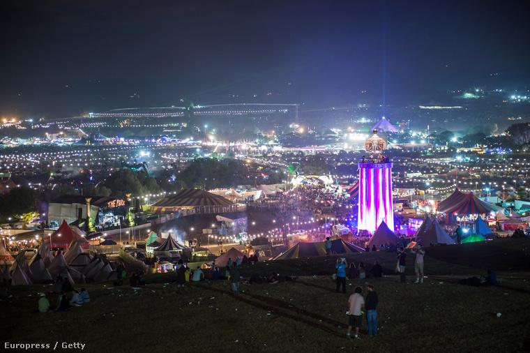 Ami annyira menő fesztivál, hogy így néz ki a távolból.