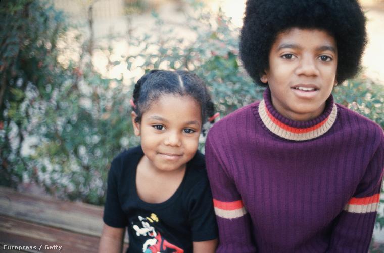 Janet Jackson és Michael Jackson közös gyerekkori fotója, 1972-ből