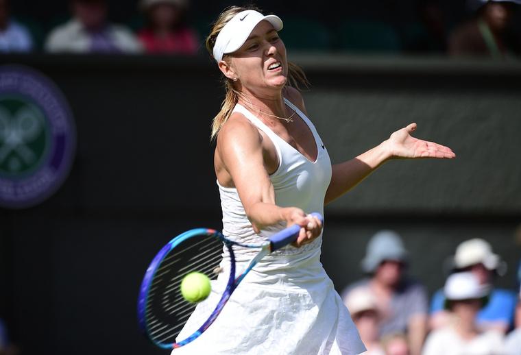 Maria Sarapova láthatóan nagyon elégedetlen ellenfele szervájával.