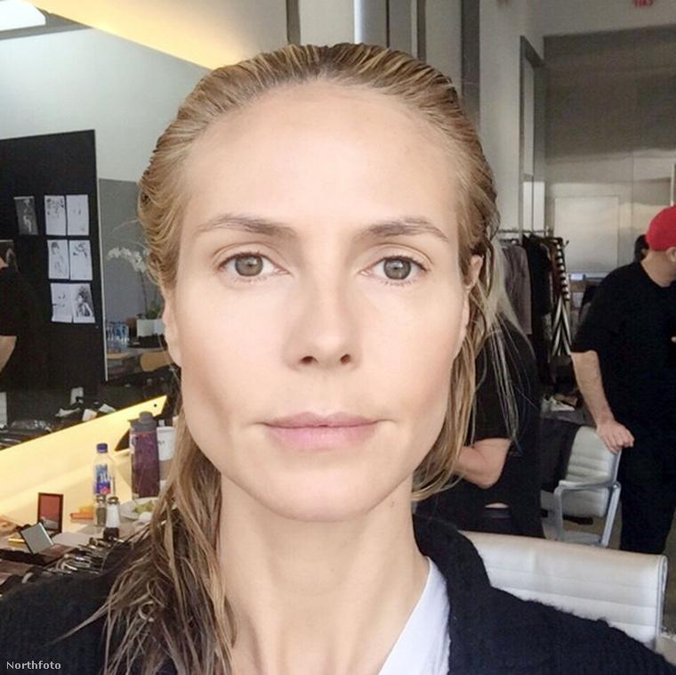 Heidi Klum smink nélkül