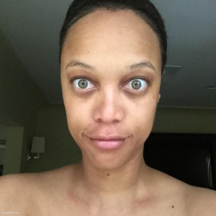 Tyra Banks smink nélkül