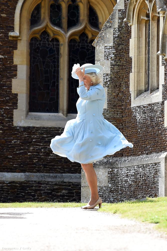 És pofátlanul fellibbentette Kamilla hercegné szoknyáját