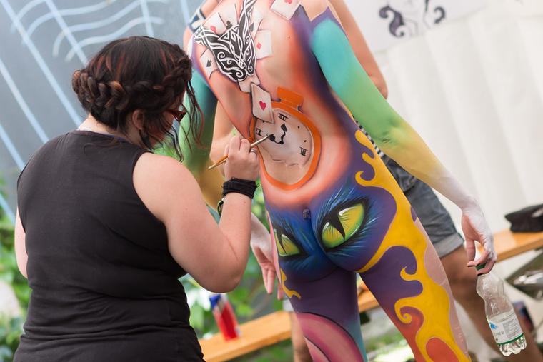 A Bodies & Beats fesztiválon rendezték meg a testfestő világbajnokságot is