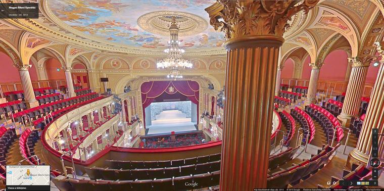 Mindig az kell, ami nincs, és mivel ön még sosem járt az Operában, ezért vágyakozik oda igazán, de nincs annyi pénze, mint Kiszel Tündének, hogy minden héten az Operaházba járjon, ezért csak megnézni szeretné belülről, de az Operaház-látogatás is pénzbe kerül, meg amúgy is herótja van az emberektől? Önnek találták ki a Street View látványosságokba bekukkantó funkcióját.