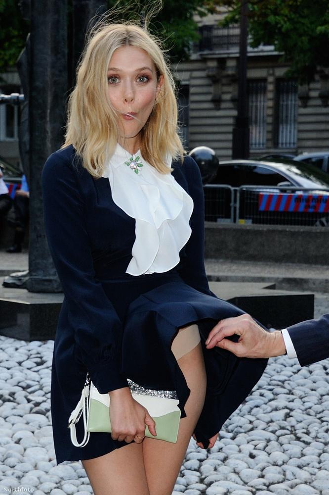 Elisabeth Olsen egy párizsi partira érkezett így július 4-én