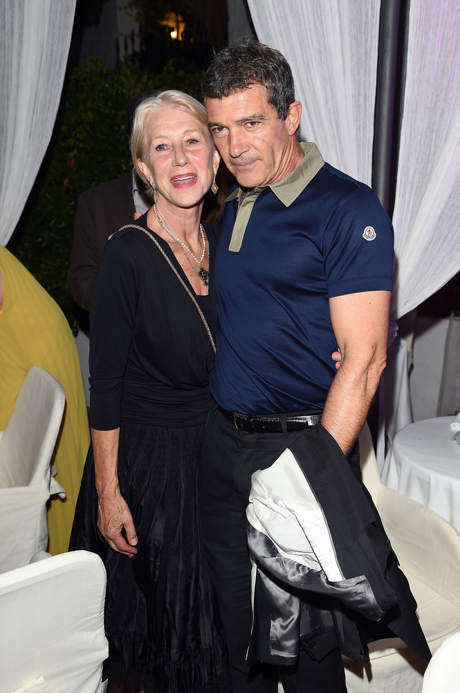 Antonio Banderes és Helen Mirren már a helyszínen