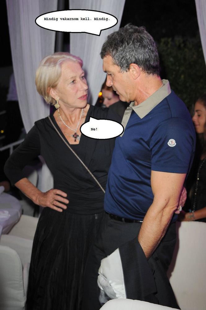 Helen Mirren is ott volt ebben a buliban