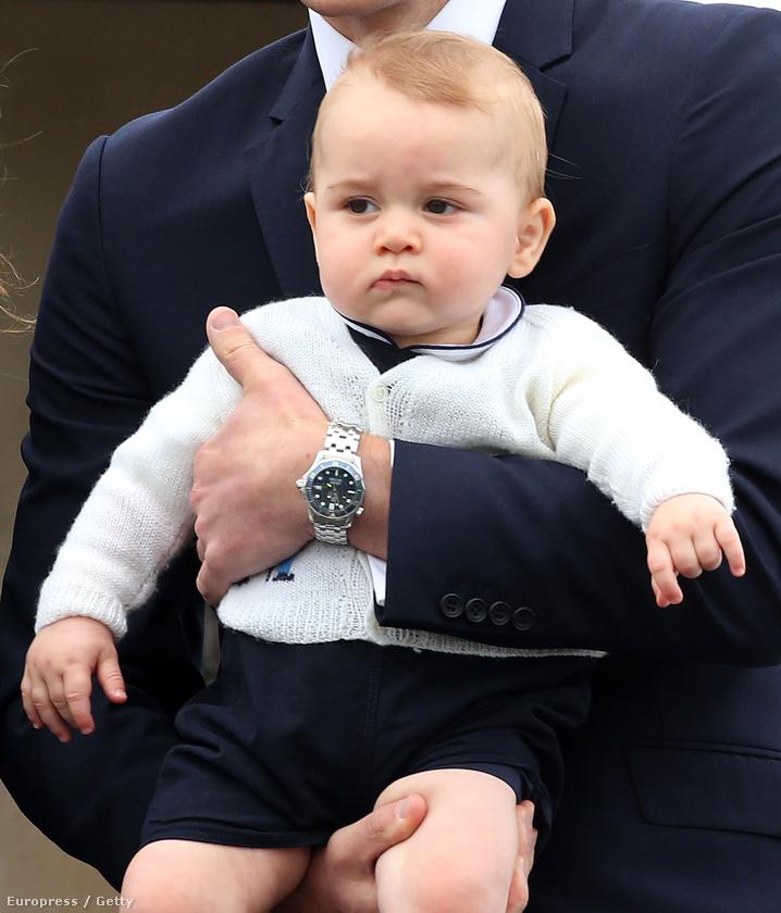 György herceg egyértelműen ezzel a fenséges, lenéző tekintettel született
