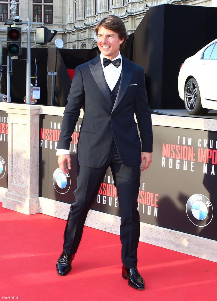 Tom Cruise a Mission: Impossible új részével, a Titkos nemzettel sajtóturnézik, most éppen Bécsben járt.
