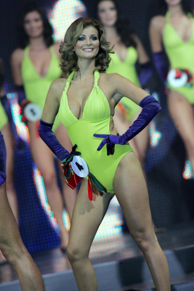 A 2007-es Miss World Hungary verseny szépségkirálynõje, az egyrészes fürdőruhában is remekül festő Bodri Krisztina 2005-ben küzdötte be magát a döntőbe.