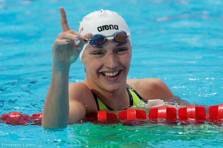 Hosszú Katinka nagyon jó formában van, életében először el is sírta magát a medencében.