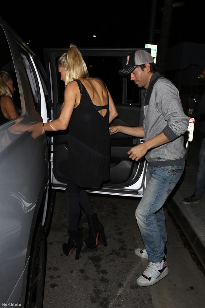 Egyébként a pár egy étteremben vacsorázott, Beverly Hillsben
