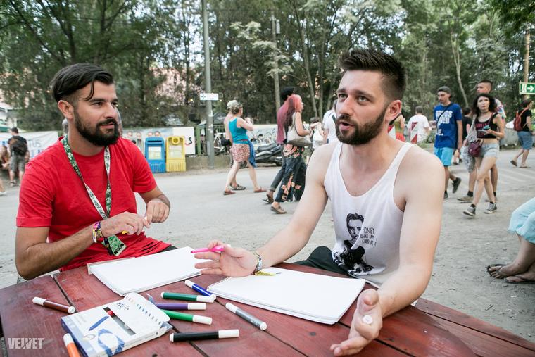 Matem és Juraj Szlovákiából jöttek át bulizni a Szigetre