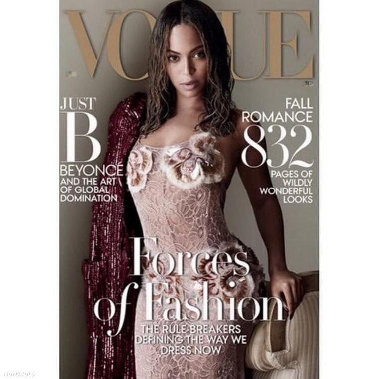 Ha jól figyeltek, akkor ezzel a képpel találkozhattak már: Beyoncét a szeptemberi, amerikai Vogue címlapjára fotózták