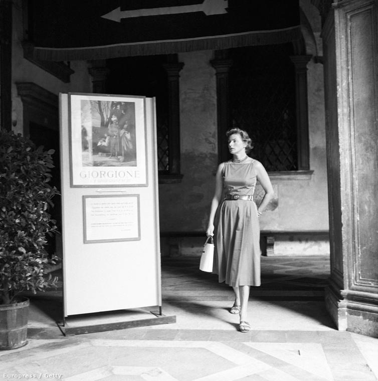 Ingrid Bergman 1955-ben a Dózse-palotában