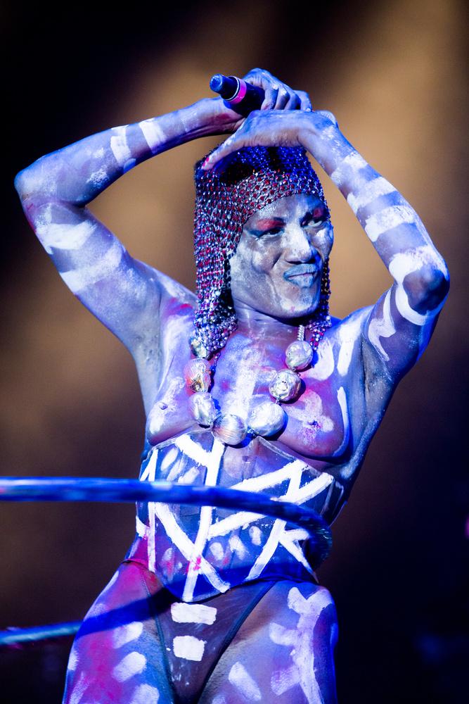 Grace Jones lépett fel felül semmiben a brooklyni Afropunk fesztiválon.