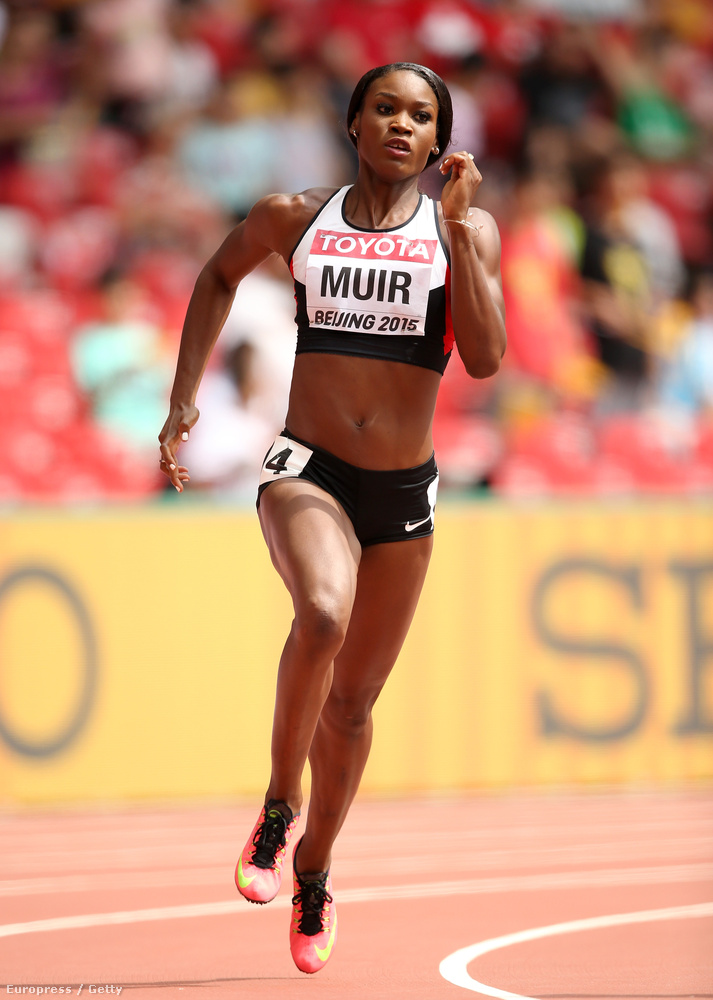 Maradunk a futásnál, a kanadai Carline Muir még pont nem edzette magát zavaróan szálkásra.