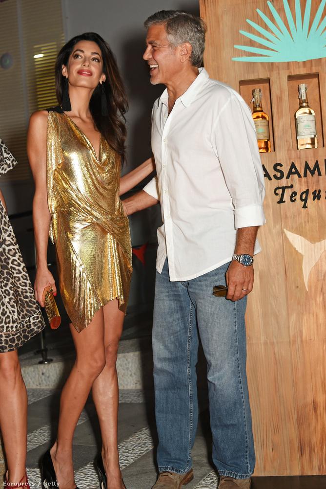 Akkor utoljára Amal Clooney aranyban
