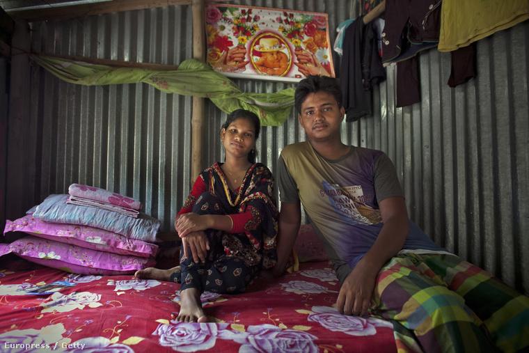 Shima Akhter és négy évvel idősebb, azaz 18 éves férje, Mohammad Solaiman