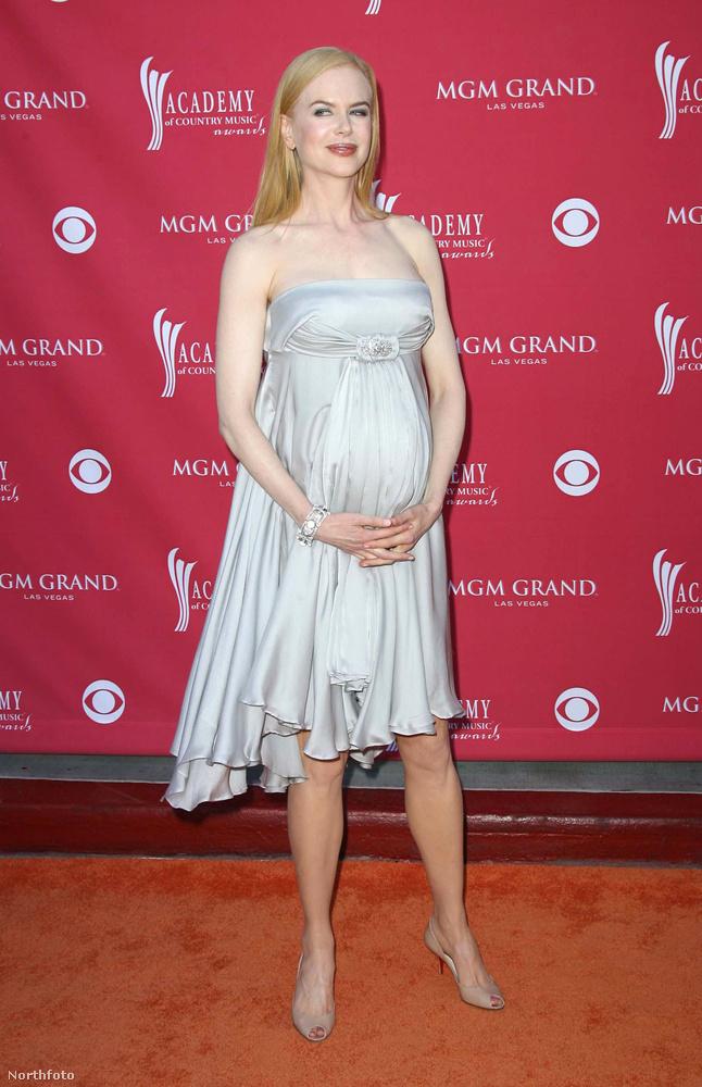 Nicole Kidmannek már volt két Tom Cruise-zal közösen örökbefogadott gyereke, amikor  először teherbe esett