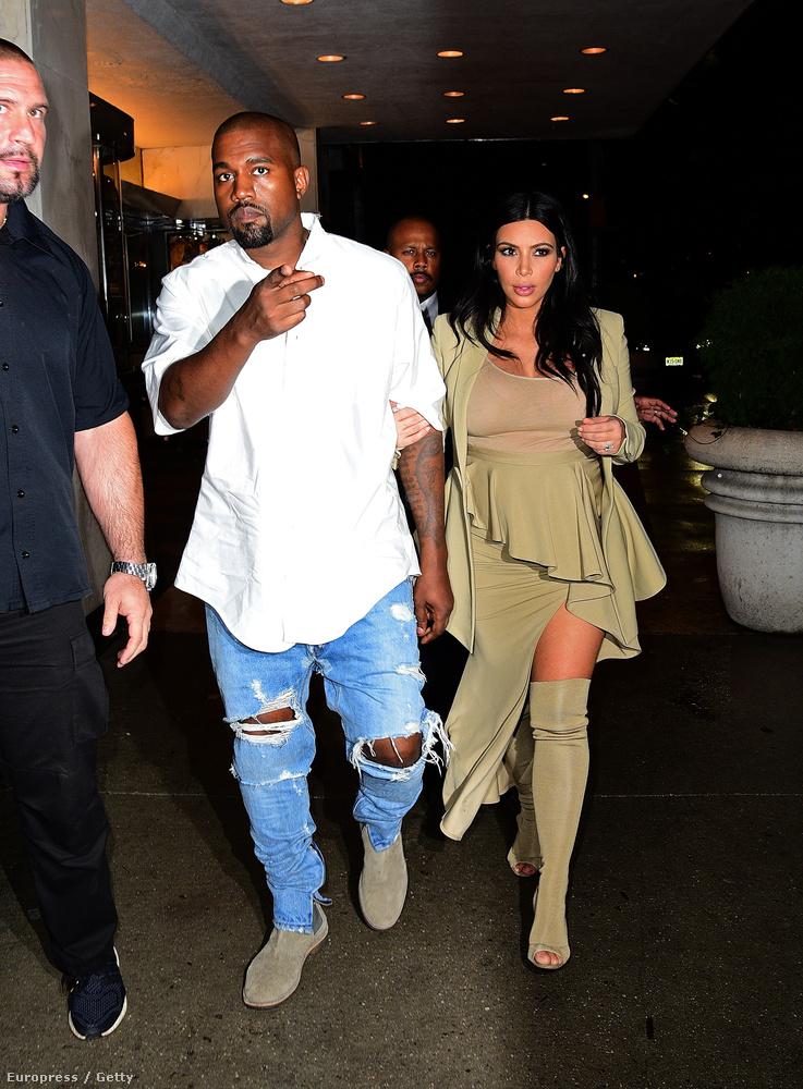 Kanye West egy kicsit lazábbra vette az estét